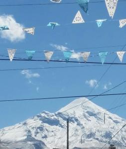 Calm flags over Orizaba