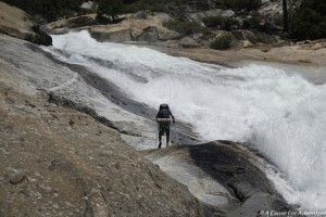 Backpacking Waterfall Tuolumne Slab Yosemite