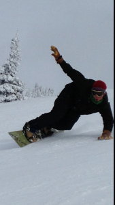 Shaggy Snowboarding