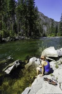 Tuolumne River Foot Soak Yosemite