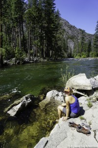 Tuolumne River Foot Soak Yosemite